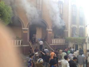 Incendie de l'église Ste-Thérèse à Assiout, Égypte