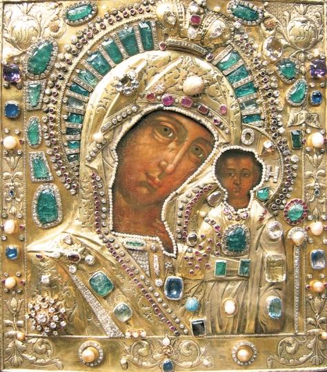 """Russia: The Icon of Our Lady of Kazan (also known as """"Kazanskaya"""
